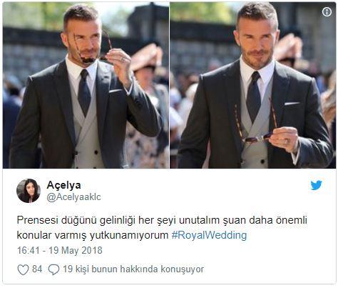 Kraliyet Düğününde Karizmasıyla Damadı Kıskandıran David Beckham'ı Överken Kırıp Geçiren 14 Kişi - 1