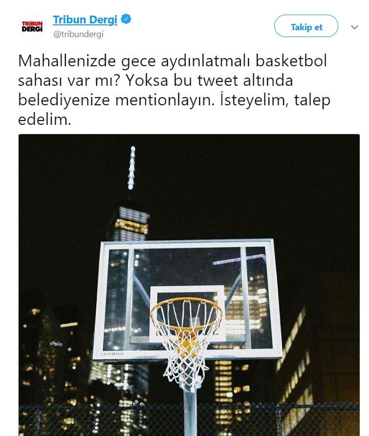 Mahallesinde Gece Aydınlatmalı Basketbol Sahası Olmayanları Buraya Alalım - 1