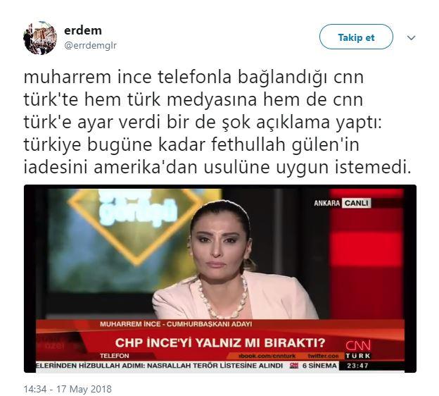 Muharrem İnce'nin Sözleri Sonrası Yüzü Düşen Hande Fırat'ı Mizahına Alet Eden 14 Twitter Kullanıcısı - 1