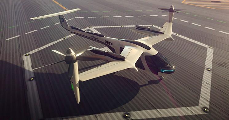 Uçan Taksiler NASA-Uber Ortaklığıyla 2020'de Kullanılmaya Başlayacak