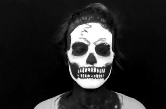 Kuru Kafa Makyajı: Skull Makeup Yüz Boyama Nasıl Yapılır ?