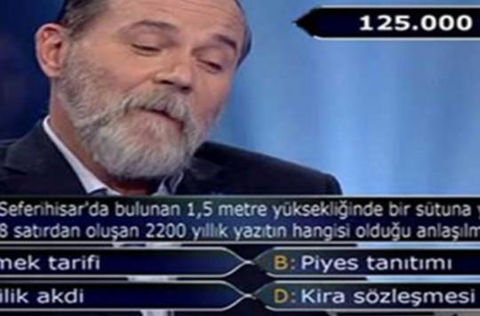 Kim Milyoner Olmak İster'de 125 Bin Liralık Soru Yarışmacıyı Şaşkına Uğrattı!